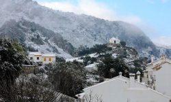 Calvario Benaocaz nevado