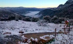 Paisaje nevado Sierra Grazalema