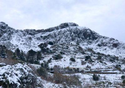 Paisaje nevado Sierra Grazalema 3